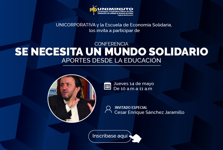 Conferencia  virtual - Necesitamos un mundo solidario